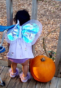 Angel with pumpkin